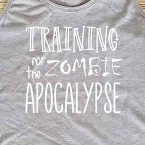 Zombie apocalypse workout shirt / gym tank top